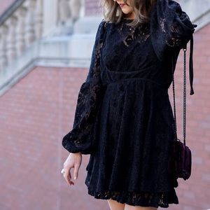 Free People NWT Velvet Lace Minidress